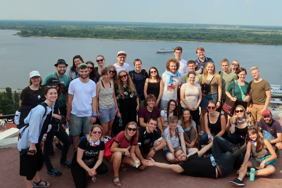 Gruppenfoto in Nischni Nowgorod<br><small class='stackrow__imagesource'>Foto: Veronika Lange</small>