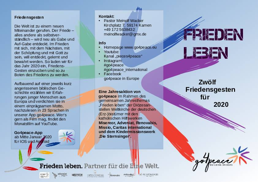 "Flyer ""Friedensgesten"""