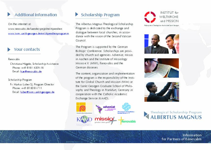Information on the Albertus Magnus Theological Scholarship Program